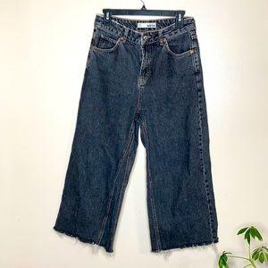 Topshop Moto High Waist Crop Straight Jeans